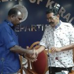Sri. Babu Johnson Nadar receiving present from Excise Commissioner